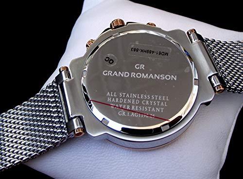 Romanson GR.1.AG1190.05 Dual Time Mens Wristwatch