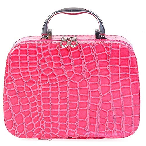 Store Brocade Enterprise Multifunction Travel Cosmetic MakeUp Bag with Small Mirror Adjustable Dividers for Cosmetics…