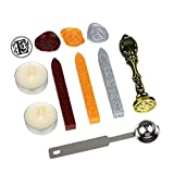 Stamp Seal Sealing Wax Stick Vintage Retro Antique Stamp Alphabet Letter Classic Brass Color Gift Set Kit Stamp Alphabet Letter Classic Brass Color Gift Set Kit (Initial Letter: E)