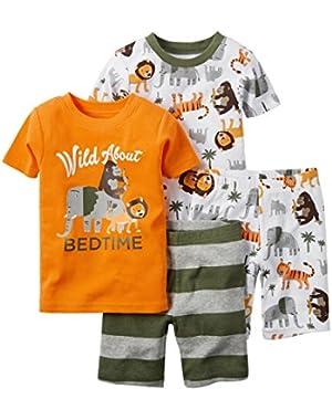 Carter's Baby Boys 4 Piece Snug Fit Cotton Pajamas (Bed Time)