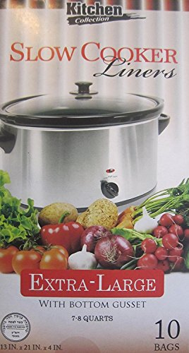 Kitchen Collection CROCK POT LINERS - Extra Large, 10 Liners (Pot 9 By 13 Crock)