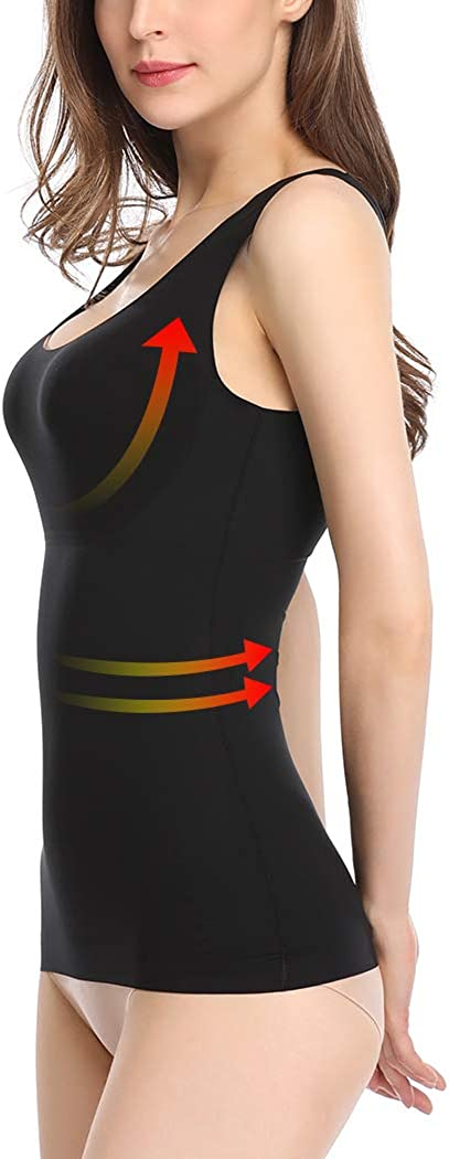 Tummy Control Tank Tops for Women Shaping Camisole Shapewear Cami Seamless Shaper Slimmer