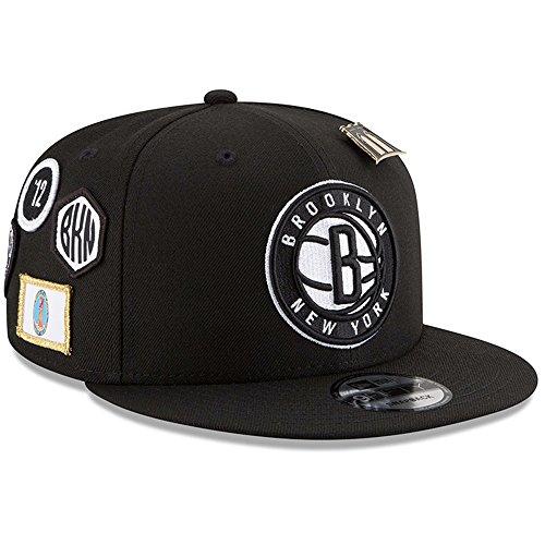- New Era Brooklyn Nets 2018 NBA Draft Cap 9FIFTY Snapback Adjustable Hat - Black