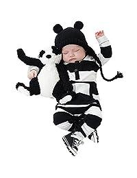 Newborn Infant Baby Boy Girl Long Sleeve Striped Jumpsuit Romper Bodysuit Outfits