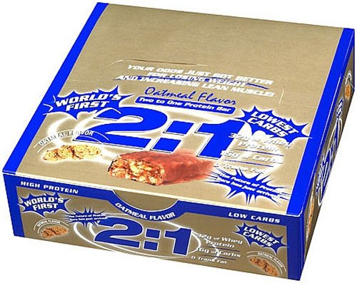 2:1 Protein Bar, Oatmeal, 12-Count Box