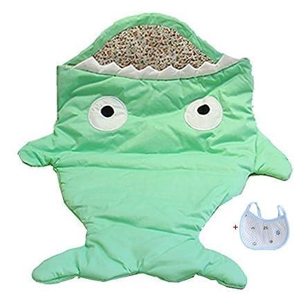 Frbelle® 100% Algodón Bolso de dormir para Cochecito Saco de Dormir de Bebé Diseño con Tiburón Manta para envolver Bebé Recién Nacido 0-36 meses para ...