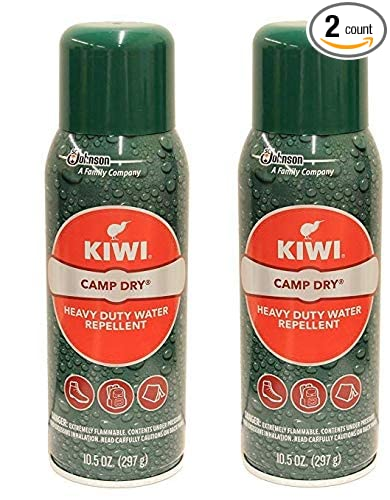 Kiwi Camp Dry Heavy Duty Water Repellent, 2 - 10.5 oz cans, Tent waterproofing spray
