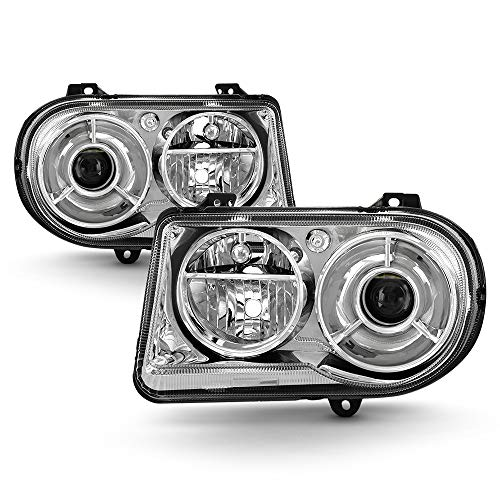 ACANII - For 2005-2010 Chrysler 300C [Factory OE Style] Chrome Headlights Headlamps Replacement Driver + Passenger Side
