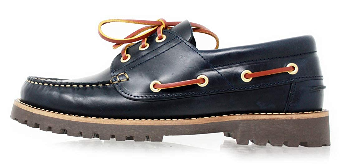 All Seasons Oiled Leather Mocassin PORTMANN Deck Mens Classic 3-Eye Boat Shoe