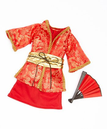 [Arianna Fits American Girl 18 Doll -Madame Butterfly Costume - Kimono, Dress, Fan, Obi Sash 4pcs Costume- 18 inch Doll clothes - Boutique Quality She's Worth it! - Designed In USA] (Asian Inspired Halloween Costumes)
