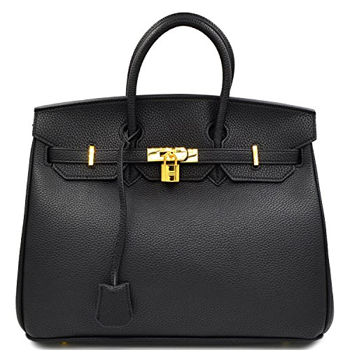 35 Birkin Bag - Designer Inspired Fashion Satchel Handbag With Padlock
