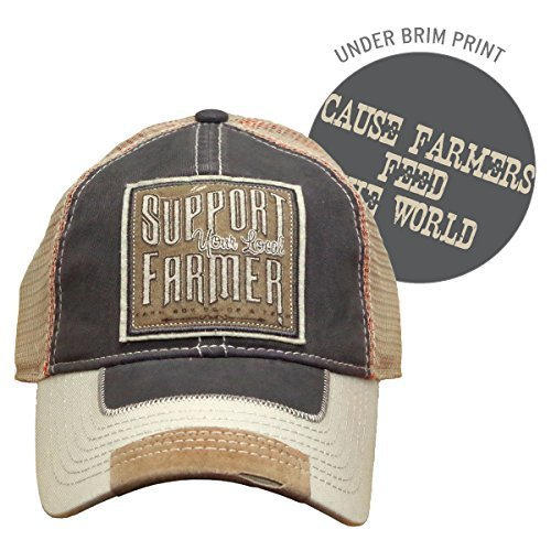 Farm Boy Support Your Local Farmer Hat w/ Adjustable Hook & Loop