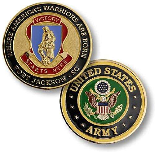 U.S. Army Fort Jackson, SC Challenge Coin