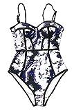 CUPSHE Fashion Women's Dream Spark Tie-dye One-Piece Swimsuit Beach Swimwear Bathing Suit (XL)