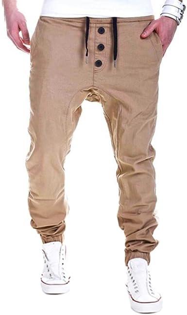 Pantalón para Hombre,Pantalones Largos Deportivos Chándal Algodón ...