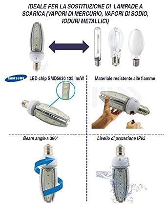 W Pour Équivalent Lampe De Éclairage Site Vapeur 50 Publique Corn OXZlwuTiPk