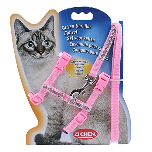 LANPA-Pet-Lead-Leash-Halter-Harness-Kitten-Nylon-Strap-Belt-Safety-Rope-Adjustable-Cat-Dog-CollarSoft-and-Easy-To-Walking