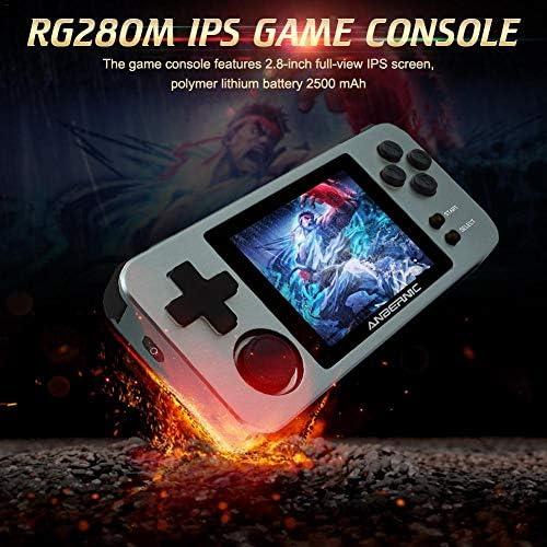 RG280Mハンドヘルドゲームコンソール、レトロゲームプレーヤーポータブルゲームコンソールサポート、プリロード10000ゲーム子供向け誕生日プレゼント