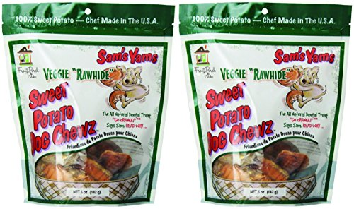 Sam's Yams Veggie Rawhide Sweet Potato Dog Treats, 5 oz x 2 pks