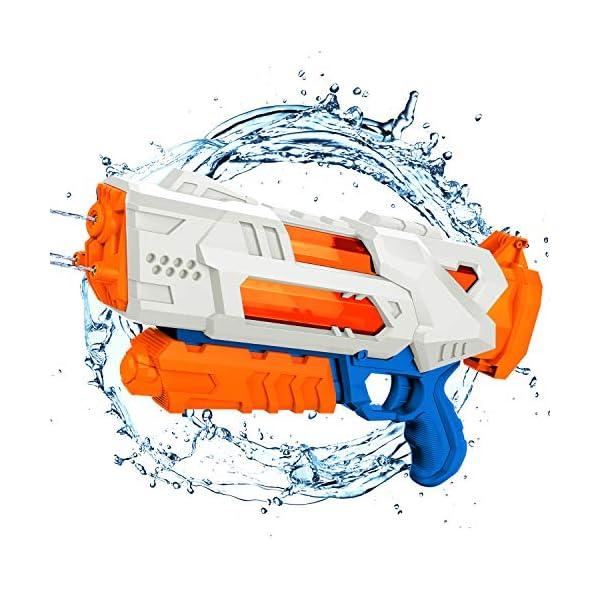 balnore Acqua Pistola Giocattolo con Lunga gittata per i Bambini Adulti Pistola Acqua 10-12 Metri di Distanza 1200ML… 1 spesavip