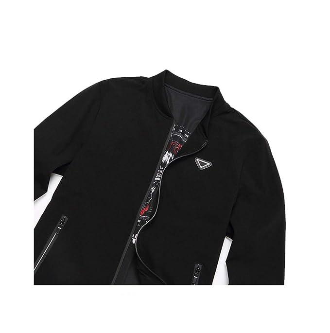 KT&Jacket Cazadora para Hombre Bombardero Polo Chaqueta Abrigo ...