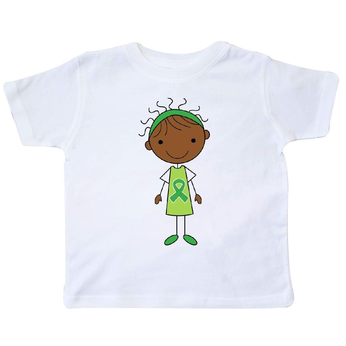 inktastic Green Ribbon Stick Figure Awaren Toddler T-Shirt