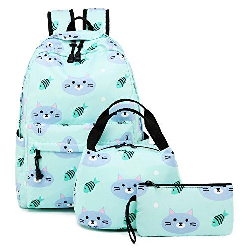 BLUBOON Girls School Backpack Travel Laptop Bookbags Schoolbag for Kids Teens High School