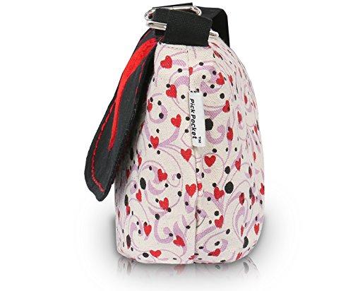 Pocket rouge Rouge Femme Pour Pick Bandoulière Noir Sac vTzZqdd47