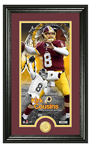 NFL Washington Redskins Kirk Cousins Supreme Bronze Coin Panoramic Photo Mint, 24