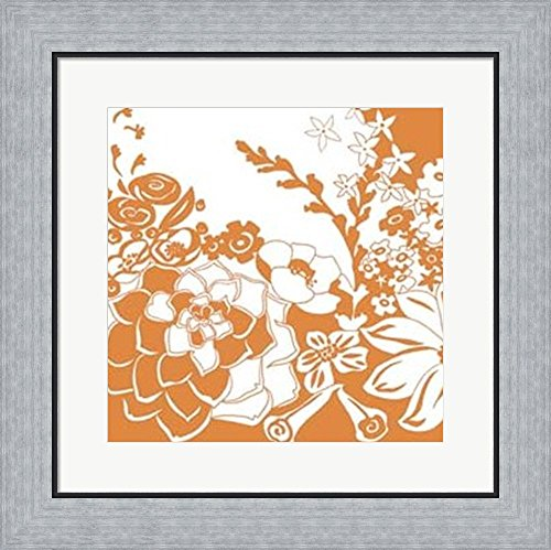Vibrant Tokyo Garden III by Chariklia Zarris Framed Art Print Wall Picture, Flat Silver Frame, 19 x 19 inches