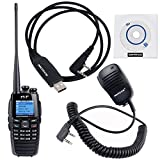NKTECH USB Programming Cable & Remote Speaker Mic and TYT DM-UVF10 136-174/400-470MHz Dual Band DPMR DTMF 1750Hz Digital Transceiver Two Way Radio