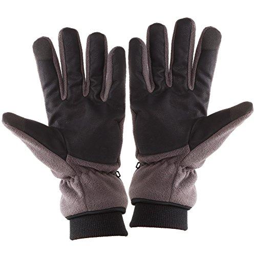 Touch Screen Texting Warm Fleece Winter Gloves for Men