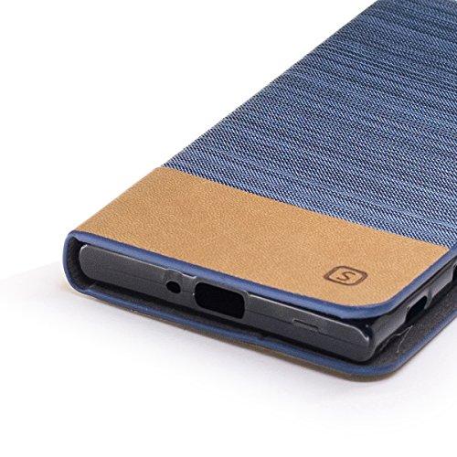 Funda Sony Xperia XR Flip, Forhouse Prima Durbale Flip PU Cuero Billetera Carcasa Caso con [Función de Soporte] [Ranuras para Tarjetas] [Protectora Caja del Teléfono] Anti-Choques Anti-Gota Delgado Fi Azul