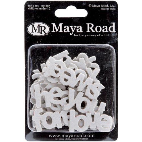 Maya Road Word Chipboard 30/Pkg-Mini Love 10 Styles .8