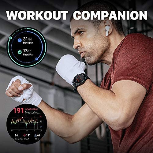 TicWatch Pro 4G LTE Cellular Smartwatch GPS NFC Wear OS by Google Android Health and Fitness Tracker with Calls Notifications Music Swim Sleep Tracking Heart Rate Monitor US Version 10