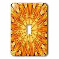 3dRose lsp_165200_1 Yellow and Orange Kaleidoscope Pattern Single Toggle Switch