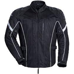 TourMaster Sonora Air Men's Textile Motorcycle Jacket (Black, X-Large)