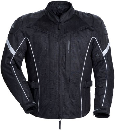 Foam Mandarin (TourMaster Sonora Air Men's Textile Motorcycle Jacket (Black, X-Large))