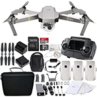 DJI Mavic Pro Platinum FLY MORE COMBO Collapsible Quadcopter Drone Travel Bundle