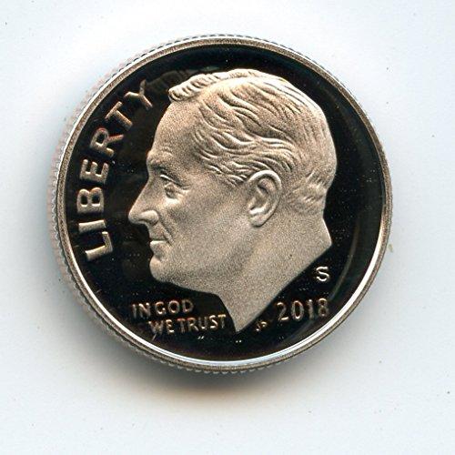 Deep Cameo Proof Roosevelt Dime - 2018 S Roosevelt Dime Deep Cameo Proof US Mint