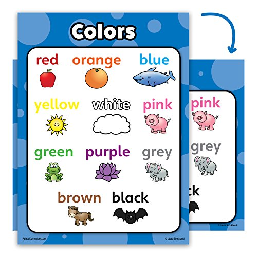 - Colors Poster Chart - LAMINATED - Double Sided (18 x 24)