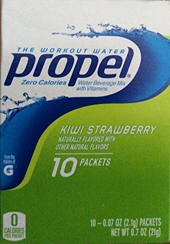 Propel Zero Calories Water Beverage Mix with Vitamins Kiwi Strawberry 10 Packets (Pack of 6) by Propel