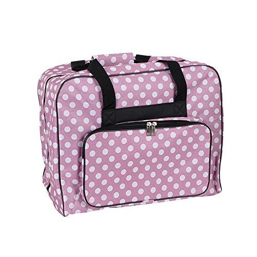 Hemline Dotty Sewing Machine Bag in Mauve Polka Dot
