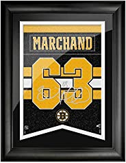 Boston Bruins Marchand 12x16 Framed Player Number with Replica Autograph