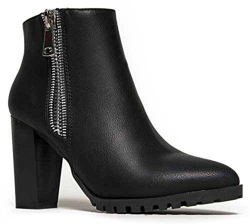 Best Marbel Ankle Boots - MarBel Zipper Designer Western Pointed Toe