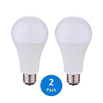 2 pack a21 3way 50100150w led bulb daylight 5000k