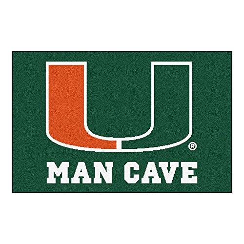 University of Miami Man Cave Area Rug - Rug Miami Tailgater