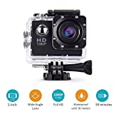 Cresawis Action Camera Sport DV 1080P Mini 30-Meter Waterproof 2 inch TFT LCD HD 5MP Helmet Camera Cam Extreme Action Camcorder With Battery, Charger and Accessories (Black)