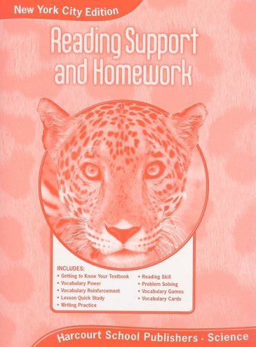 Harcourt Science New York: New York City Reading Support and Homework Student Edition Grade 5