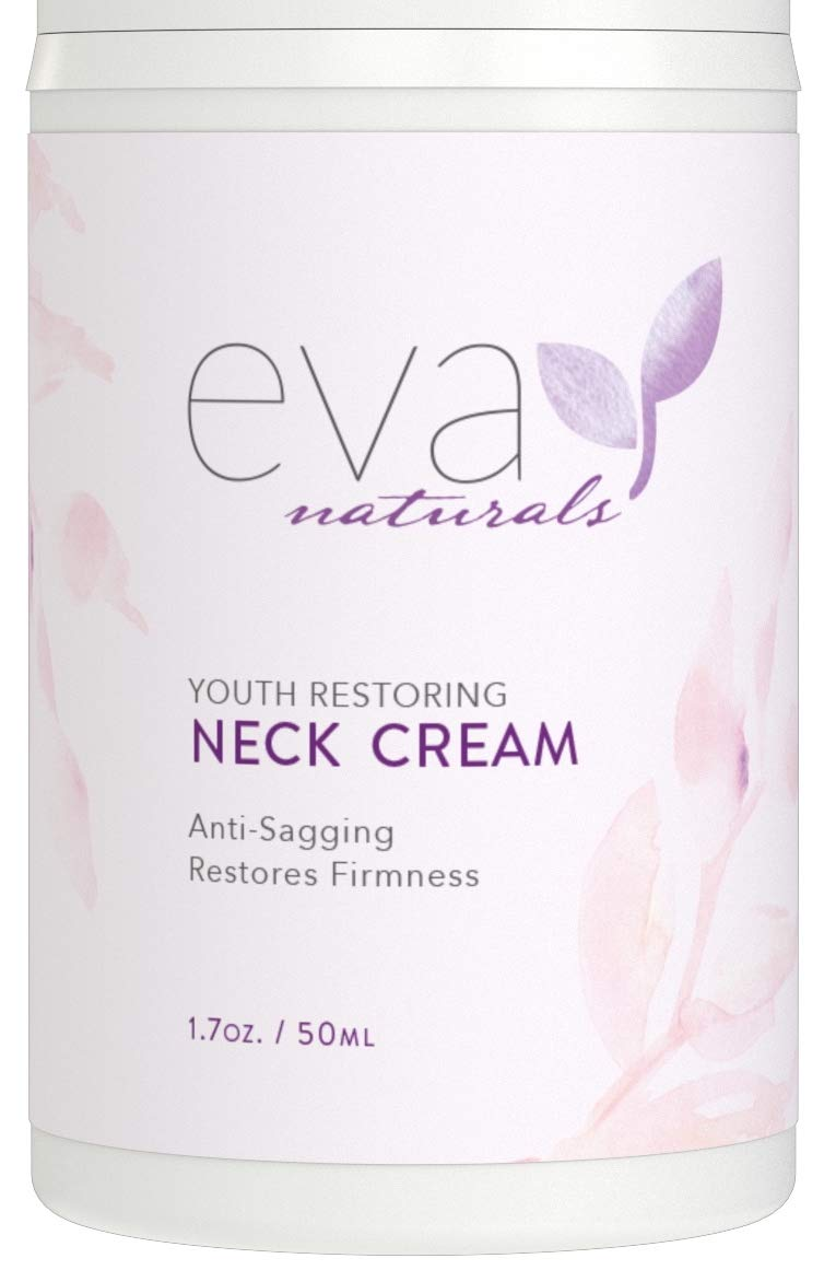 Eva Naturals Neck Firming Cream (1.7 oz) Airless Pump - Firming Lotion for Sagging Neck, Face, and Décolleté - Fights Wrinkles and Promotes Elasticity and Youthful Skin - With Vitamin C ENNC2
